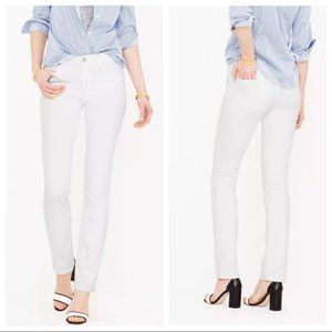 NWT J. Crew white Matchstick  jeans 33S